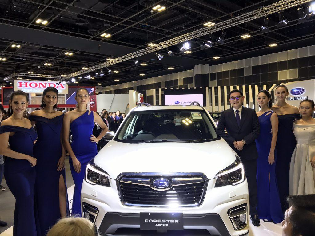 Chiếc Forester All New sử dụng đông cơ Hybrid e-Boxer được Subaru ra mắt tại Triển lãm 2019 Singapore Motorshow