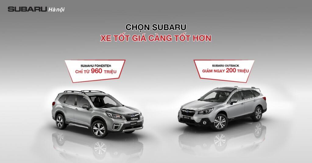 Bảng giá Subaru tháng 11